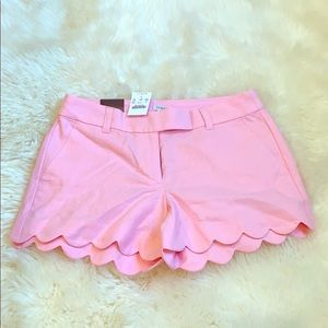 NWT J Crew scallop shorts - pink, size 0
